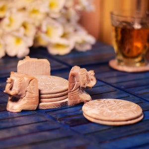 Hand Carved Soapstone Coaster (Set of 6)