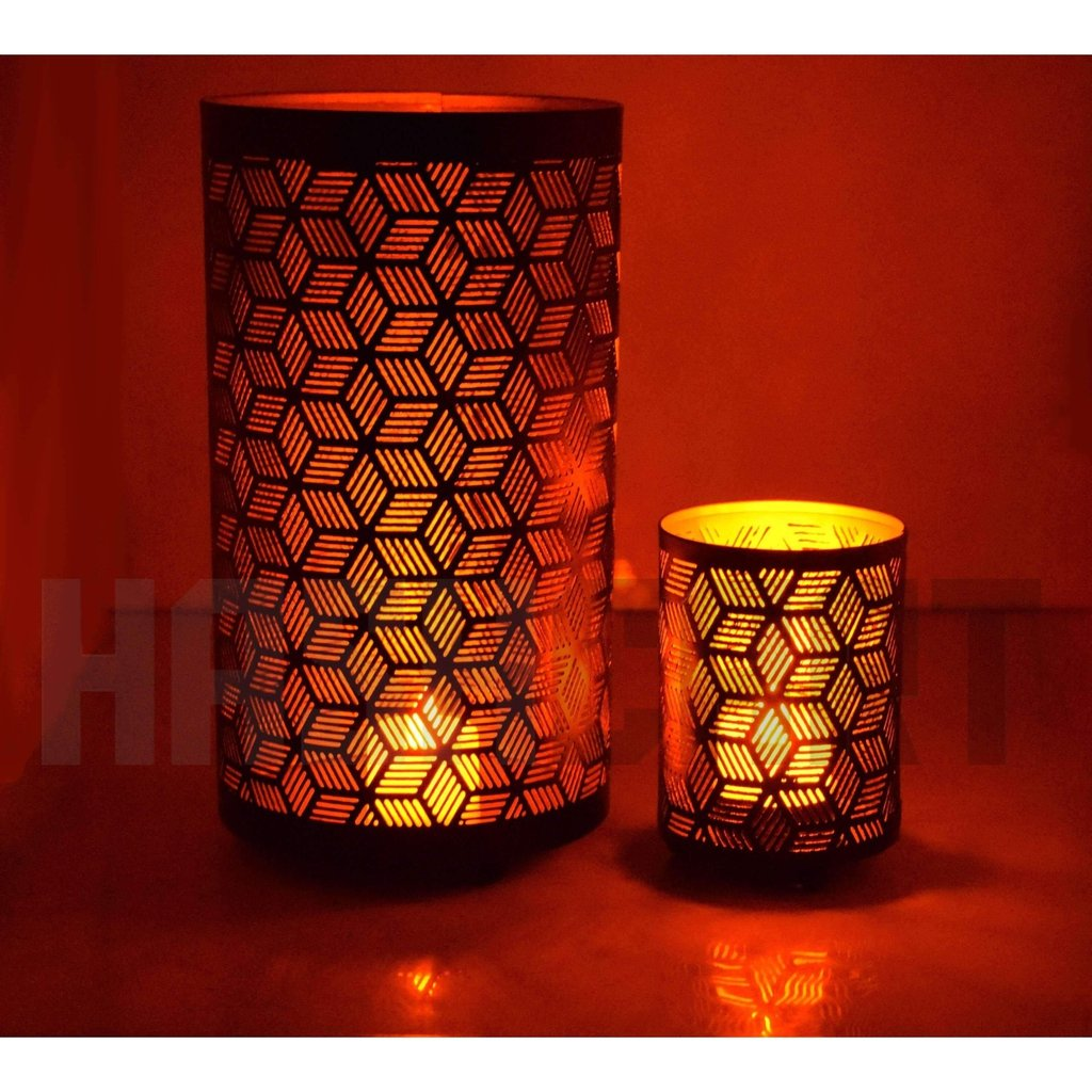 Decorative Votive Tealight Holder for Home Decor (Set of 2)-Tealight Candle Holder-Hashcart