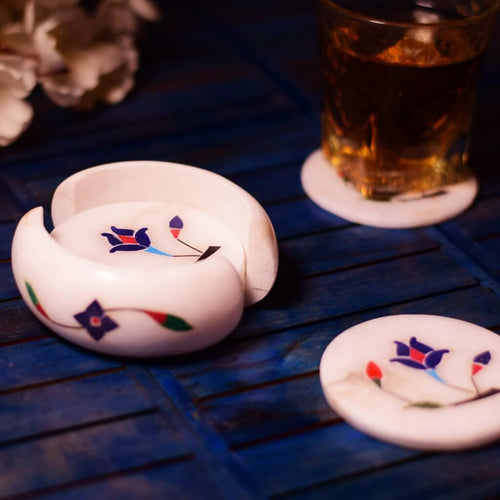Hand Carved Marble Coaster (Set of 6)