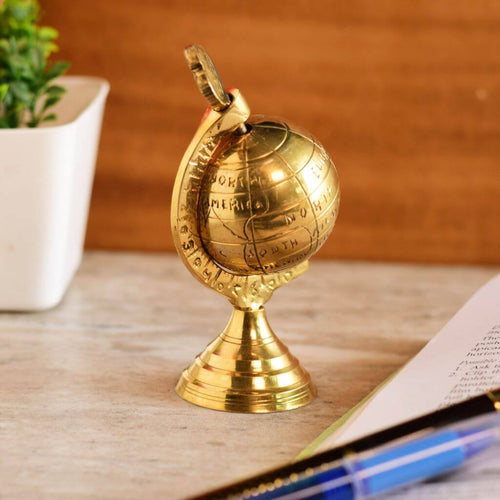 Antique Style Brass World Map Globe