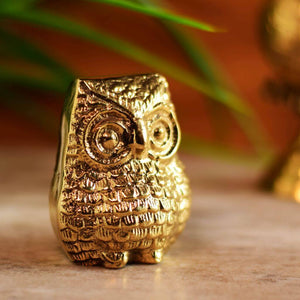 Decorative Brass Antique Owl Statue