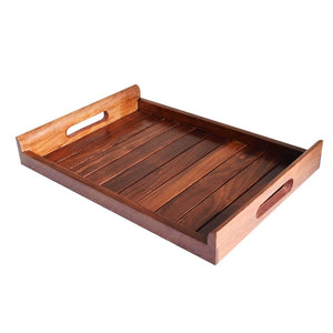 Handcrafted Indian Wooden Serving Tray (14x10) Inch