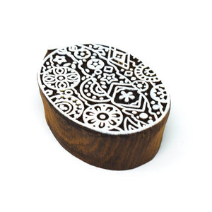 1 Big Size 4 Small Size Wooden Printing Stamps
