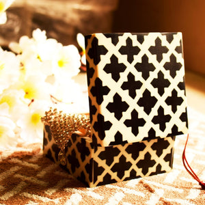 Square Keepsake Box with Bright Colorful Design