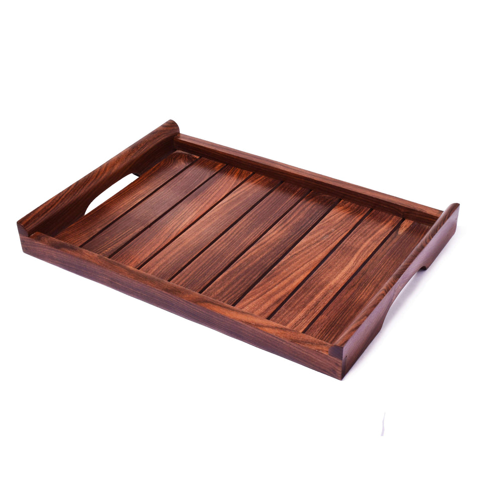 Handcrafted Wooden Serving Tray For Dining Table(12x8) Inch