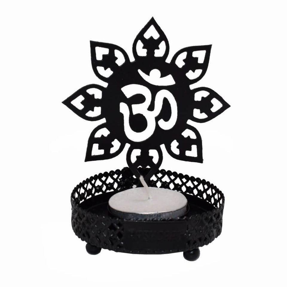 Traditional OM Tealight Candle Holder