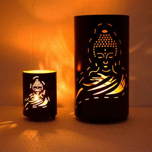 Buddha Shadow Votive Tealight Holder (Set of 2)