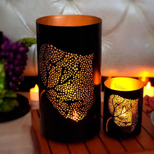 Leaf Votive Tealight Holder for Home Decor (Set of 2)