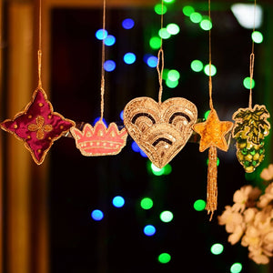 Handcrafted Decorative Hanging Ornaments  (Set of 5)