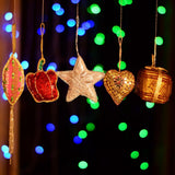 Handmade Decorative Hanging Ornaments For Home Decor  (Set of 5)