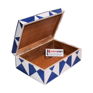 Wooden Storage Box with Colorful Design