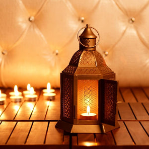 Hexagonal Shape Traditional Telight Candle Holder