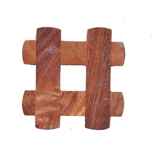 Designer Sheesham Wood Coasters For Dining Table