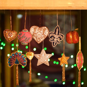 Decorative Handmade Hanging Ornaments , Door Entrance (Set of 10)