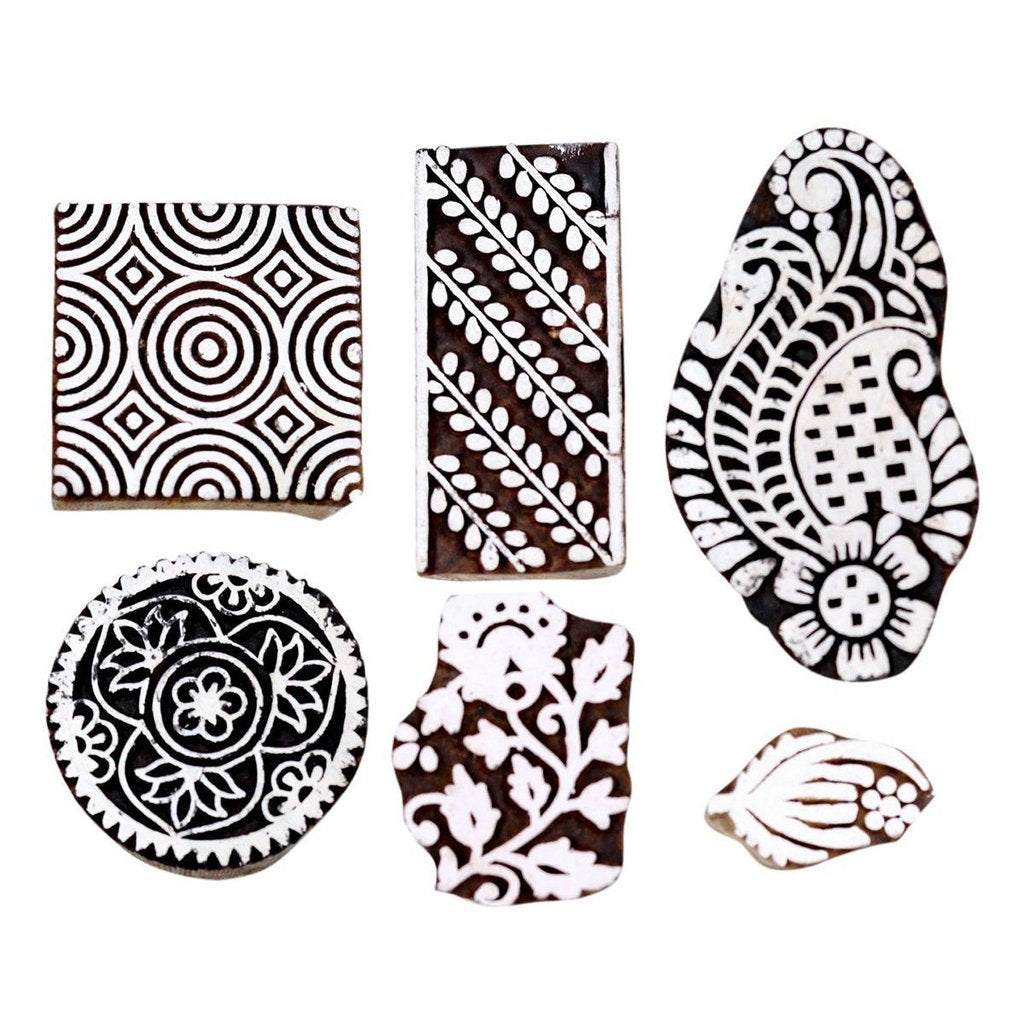 Handmade Pottery Stamps from India