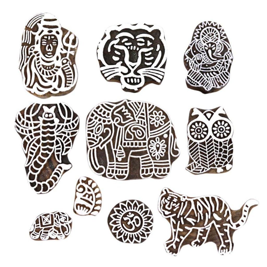 Animal Shaped Handicraft Printing Stamps