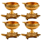 Turtle Base Brass Oil Diya