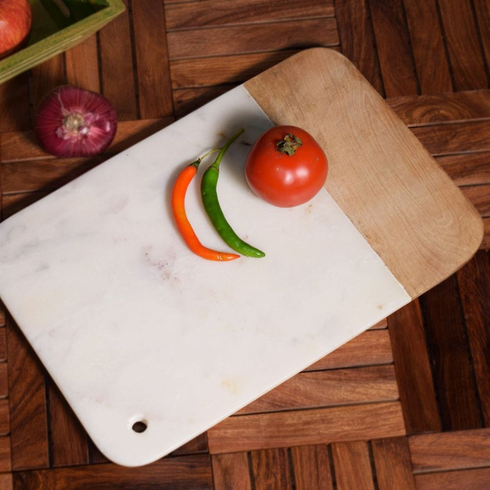 Marble Stone Cutiing Board | White