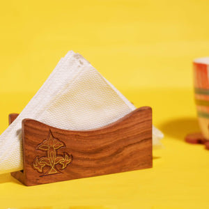 Designer Sheesham Wood Tissue Box Holder