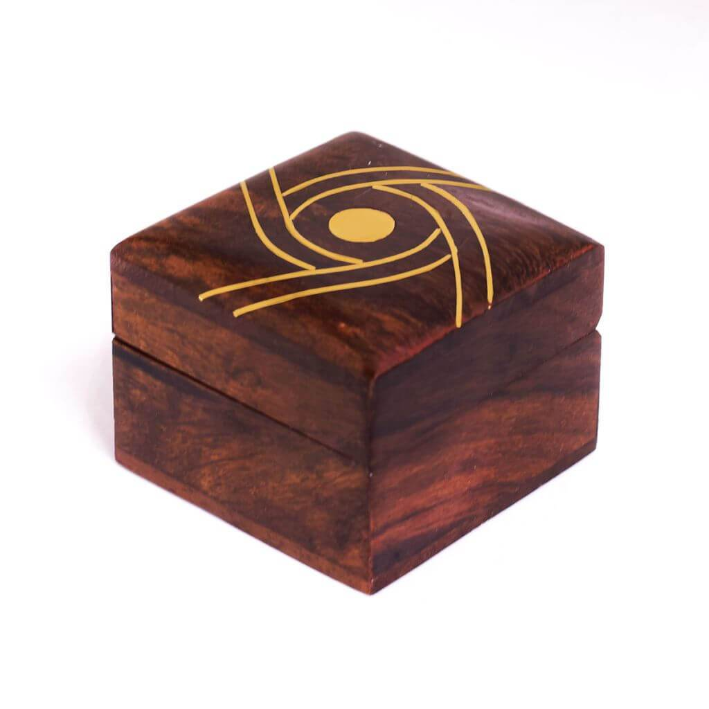 Indian Handicraft Wooden Decorative Ring Box