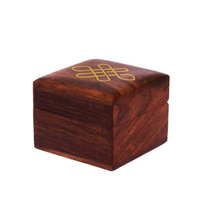 Indian Handmade Wooden Ring Box | Gift Storage Box