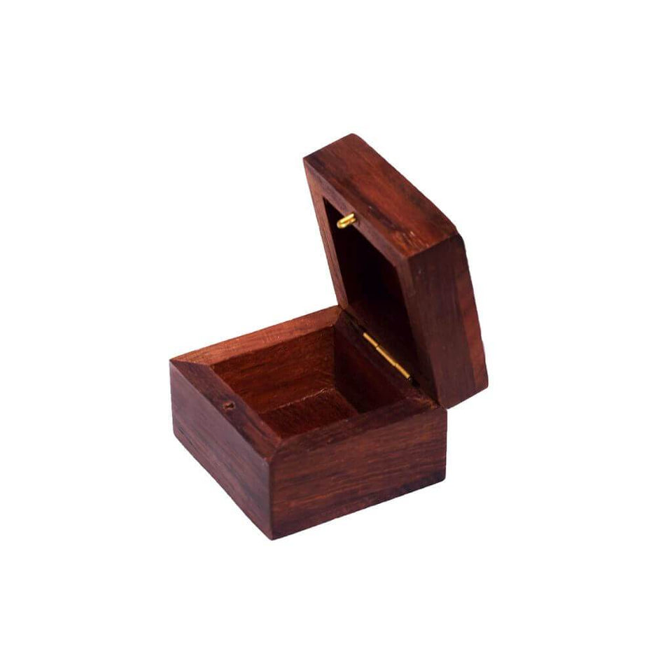 Handmade Indian Wood Ring Storage Box Gift Box