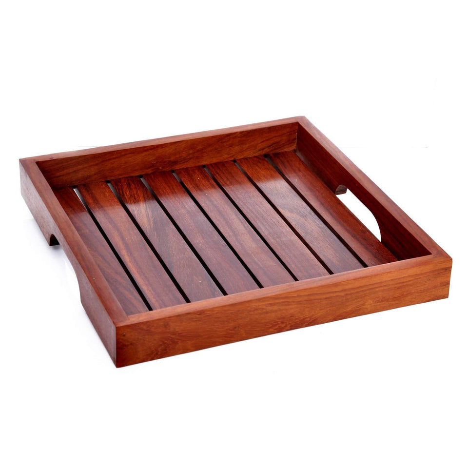 Handcrafted Wooden Serving Tray(Set of 3)