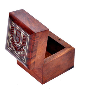 Rosewood Small Vintage Trinket Box for Rings