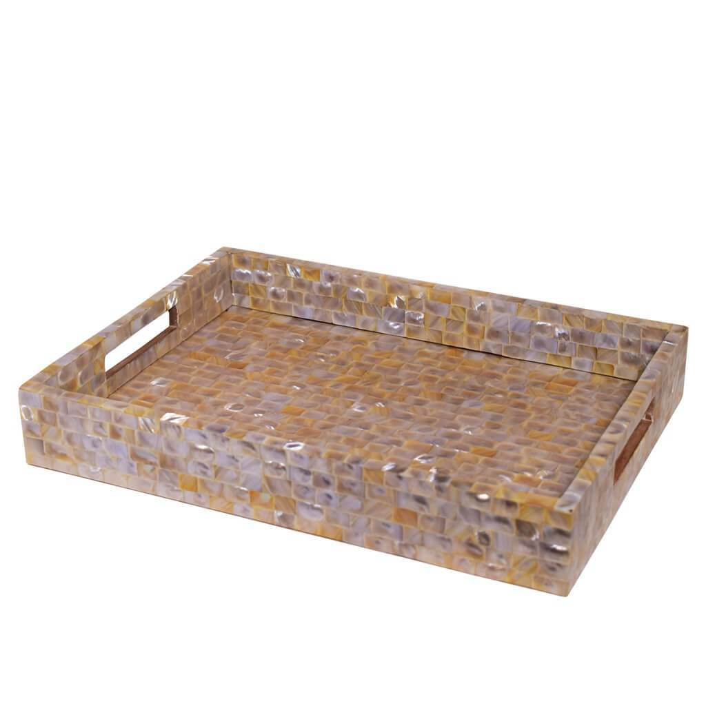 Rectangle Wooden Serving Tray (14x10 Inch)
