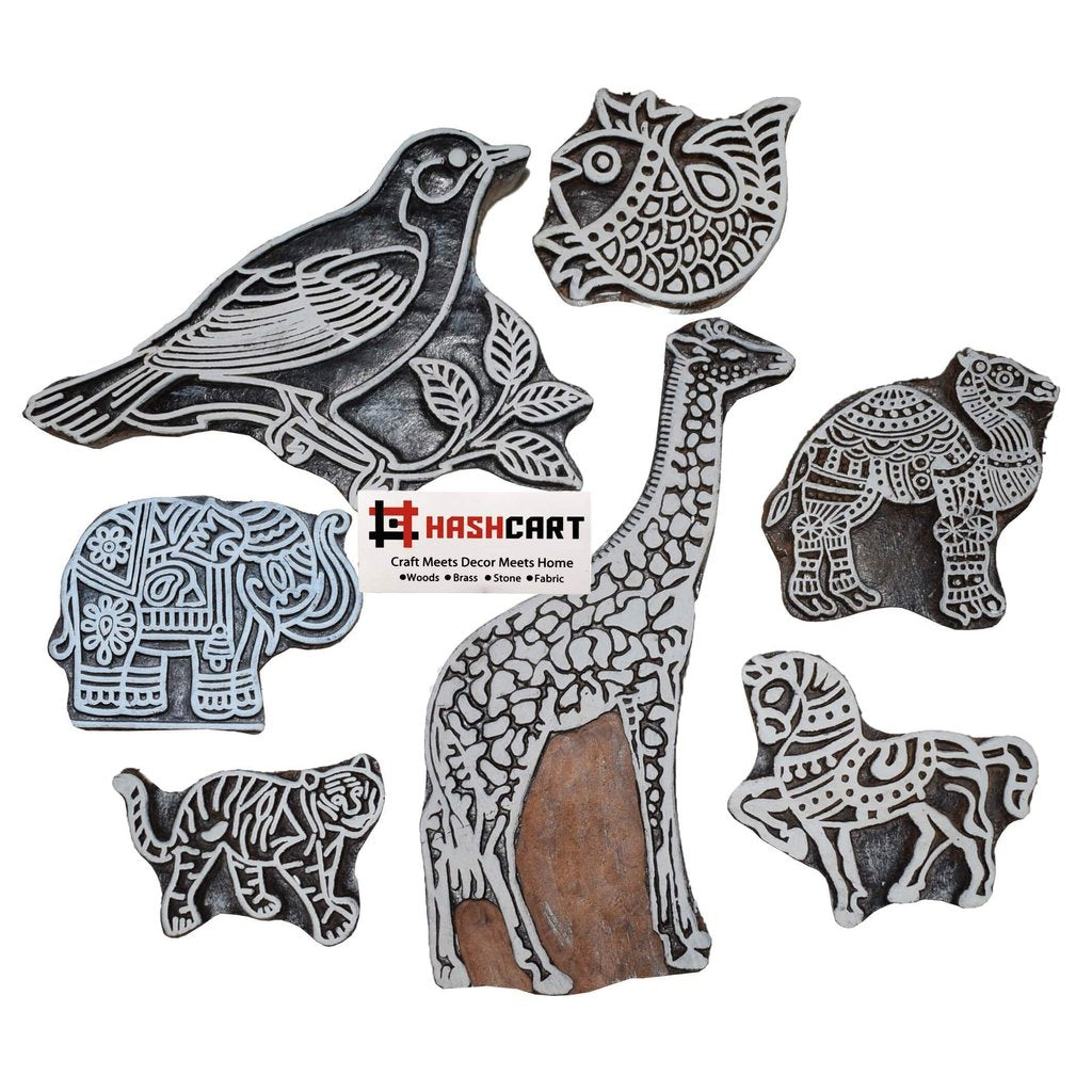 Animals, Birds & Fish Stamps of Wood for Home Decor