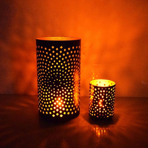 Designer Votive Tea Light Candle Holder (Set of 2)