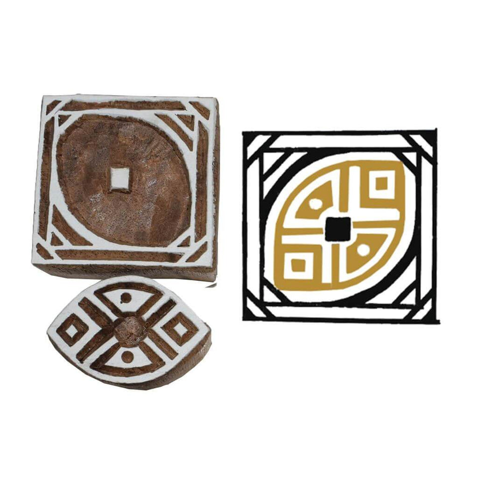 Handcarved Wooden Printing Blocks (2 Colors)