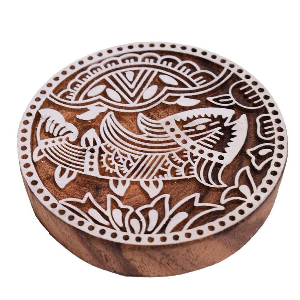 Animal Pattern Wooden Printing Blocks (Set of 4)