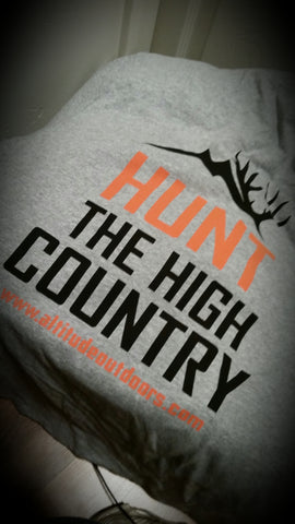 """Hunt the High Country"" T-shirt"