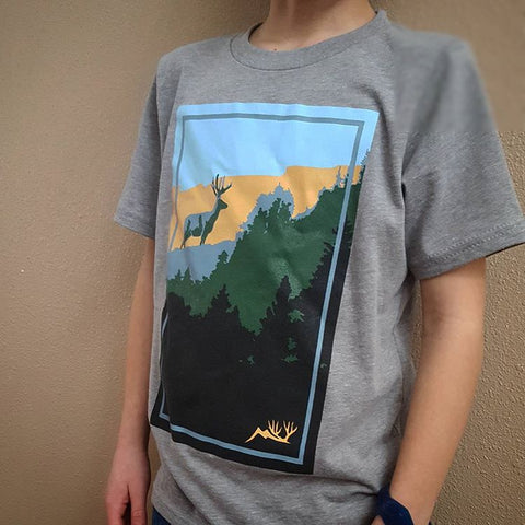 Youth VIVID Mule Deer SS Tee