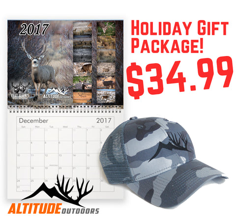 Mule Deer Calendar & Hat Gift Package