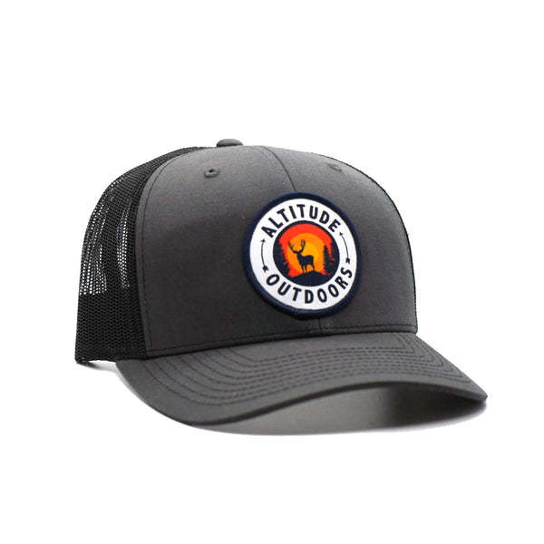 Charcoal Sunset Trucker