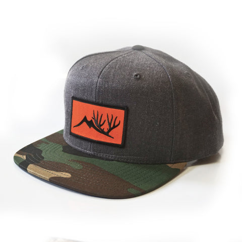 Altitude Orange Patch Hat - GrayCam Flat Brim