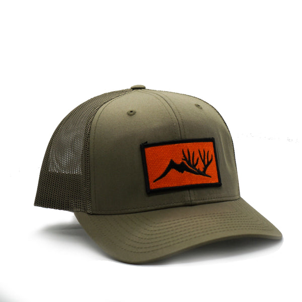 Loden Orange Patch Trucker