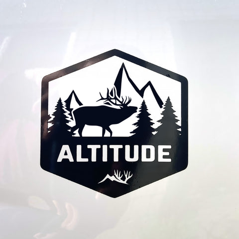 Mountain Elk Altitude Decal