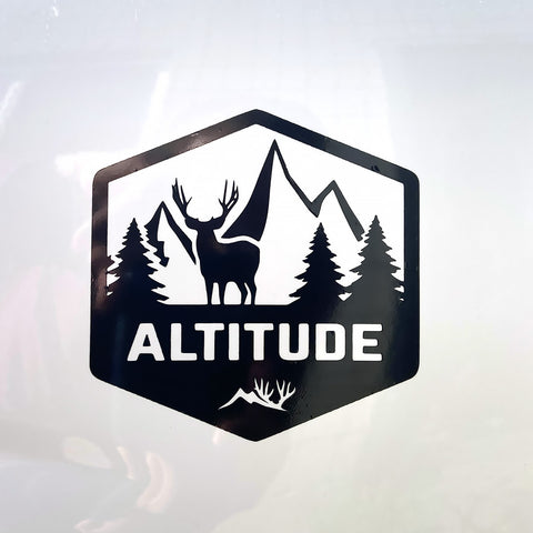Mountain Mule Deer Altitude Decal