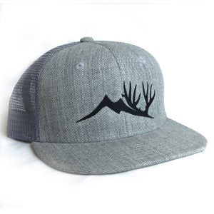 Heathered Gray Flat Brimmed Altitude Outdoors Hat