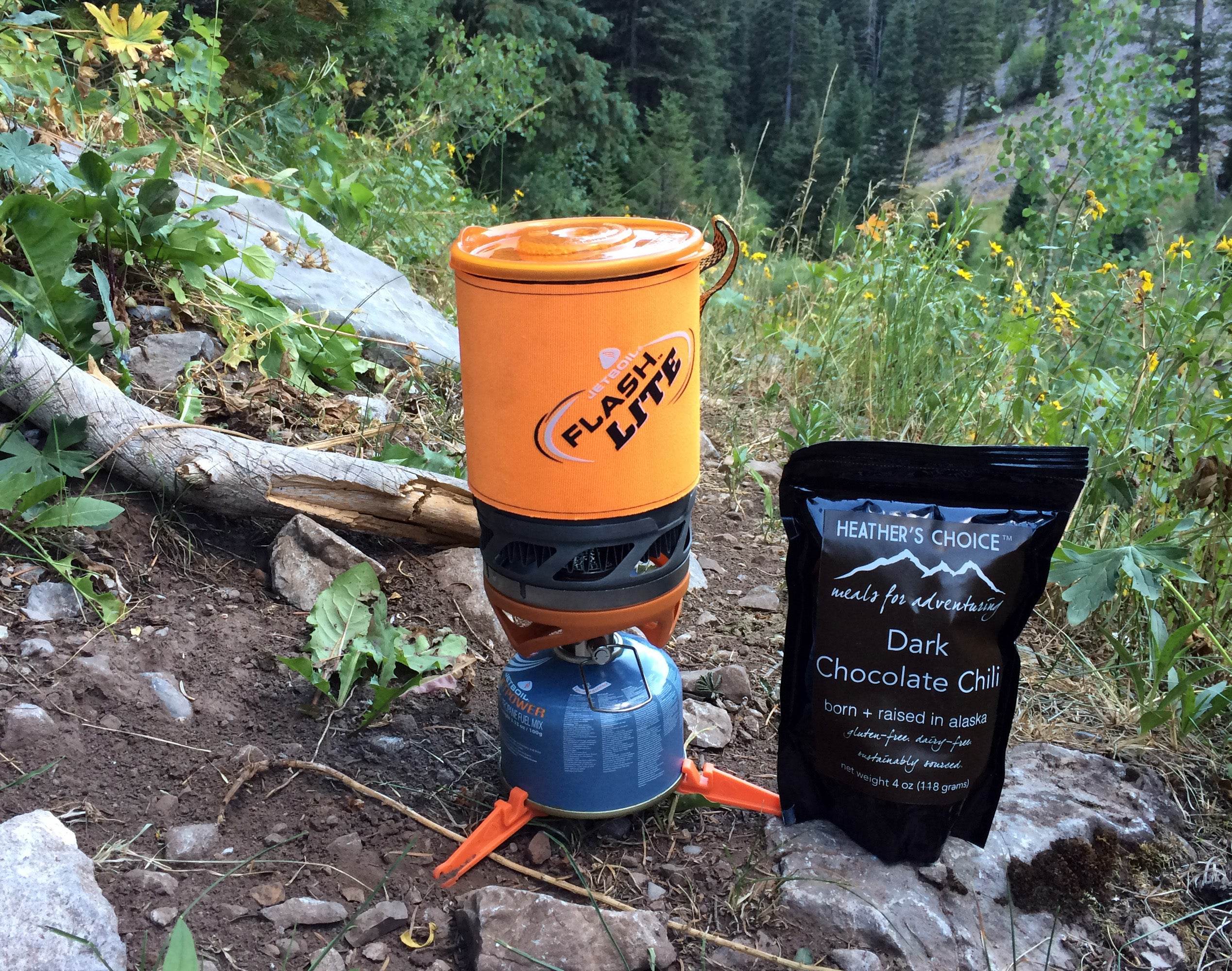 Camp Stove and Dehydrated Meal