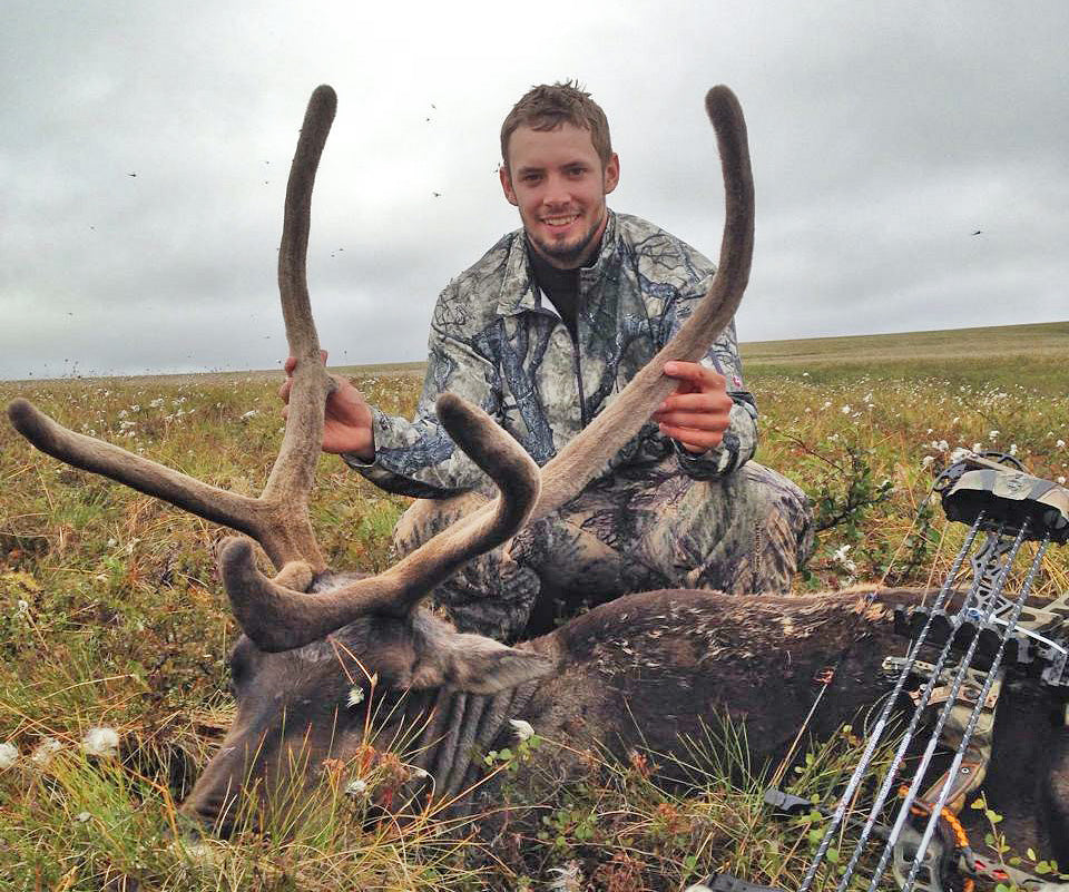 Trent extends his hunting season with an early season caribou hunt