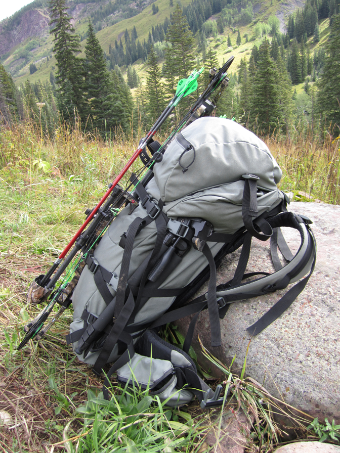 Stone Glacier Sky Archery Backpack with Bow Attached