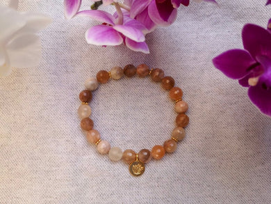 Ray of Light Bracelet Mala - Lila in the sky