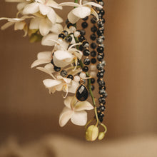 Load image into Gallery viewer, Black Obsidian mala necklace