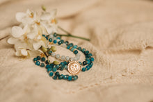 Load image into Gallery viewer, Blue Apatite mala
