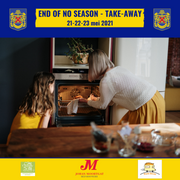 End of no season take-away 21, 22 en 23 mei