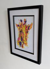 Load image into Gallery viewer, Signed Giraffe Artwork